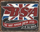 BSA The Most Popular Motorcycle In The World steel sign (de)